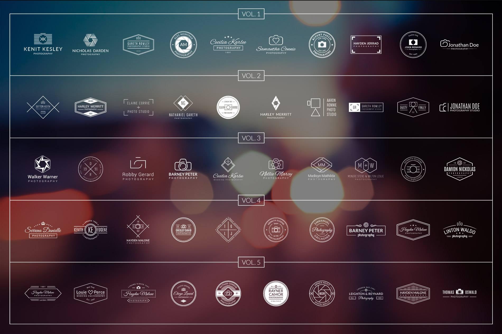 Share cho AE nguyên bộ 150 Logos cho Photography + Bộ Bonus. Tải xuống nguyên bộ 150 Logos cho Photography + Bộ Bonus dành cho dân thiết kế đồ họa