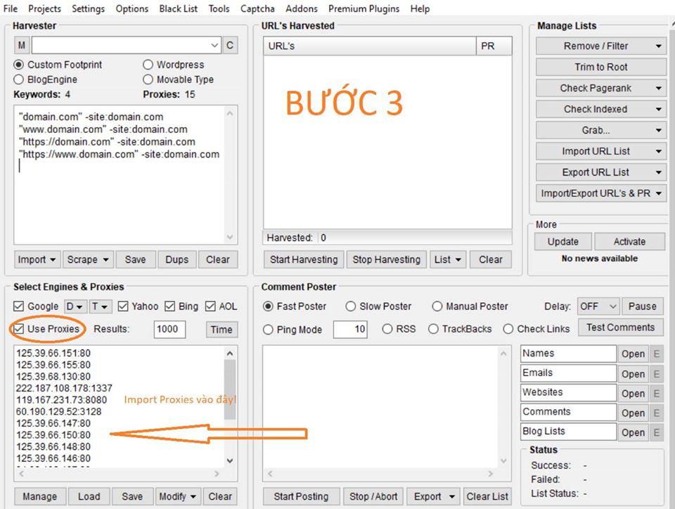 Tìm và Phân tích Baclink đổi thủ với Scrapbox & URL Profiler